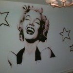 Another Marilyn on the wall,combine of brush and airbrush