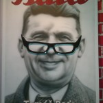 Baťobabiš with plastic glasses and leather logo Baťa airbrush 140cm x 100cm