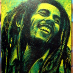 'Bob Marley' 90cm x 60cm, board, markers,squeezer and can, 7500 CZK