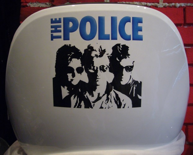 The Police airbrush on chair
