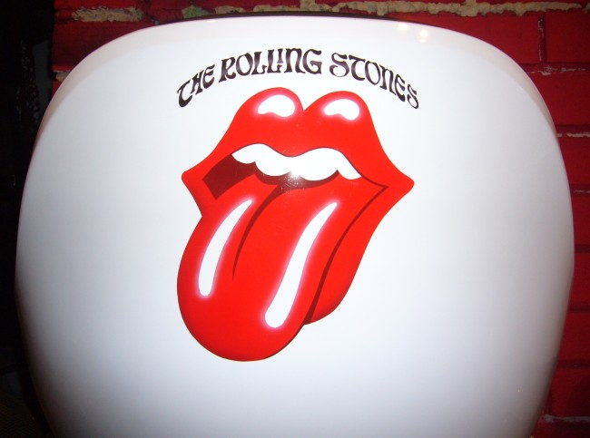The Rolling Stones airbrush on chair