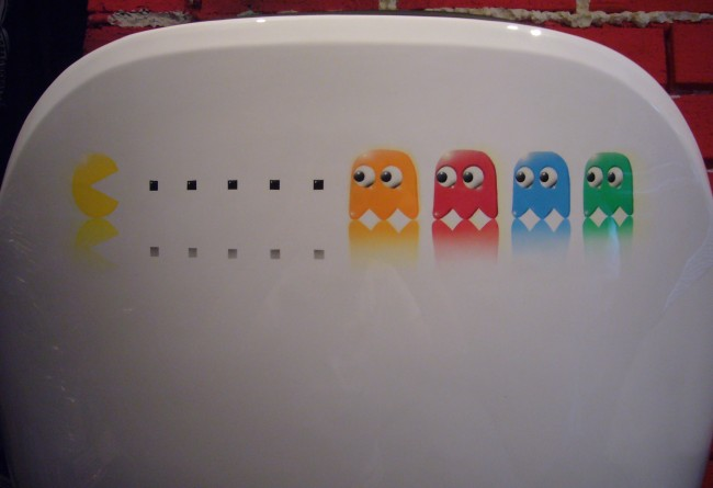 Pacman airbrush on chair