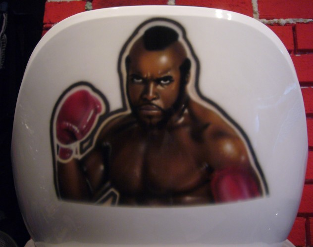 Clubber Lang airbrush on chair