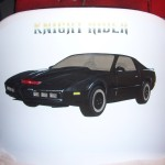 Knight Rider airbrush and crayon on chair