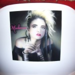 Madonna airbrush and crayon on chair