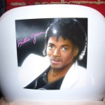 Michael Jackson airbrush and crayon on chair