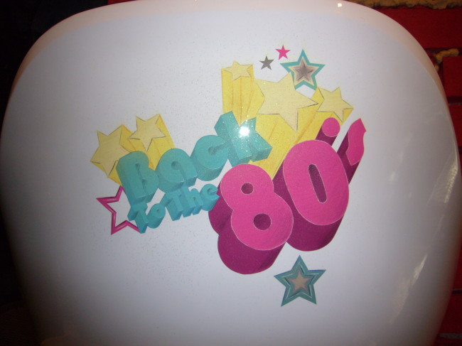 Back to the 80's airbrush and crayon on chair