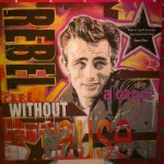 James Dean Rebel without a cause brush 150cm x 150cm