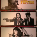 The Pulp Fiction combine technique of  markers and airbrush 3x 215cm x 85cm