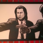 Vincent Vega and Jules Winnfield, combine technique of  markers and airbrush  215cm x 85cm